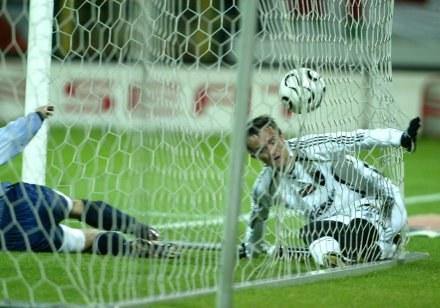 Miroslav Radovic chwilę po zdobyciu gola na 2:0 w meczu z Odrą Fot. Maciej Śmiarowski /Agencja Przegląd Sportowy