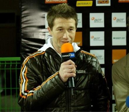 Mirosław Szymkowiak jako komentator stacji Canal+ Fot. Kamil Jóźwiak /Agencja Przegląd Sportowy