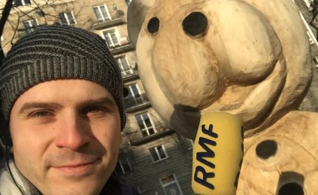 Miś Uszatek w Warszawie. Artyści wyrzeźbili go z uszkodzonego przez wichurę drzewa