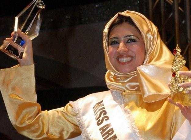 Miss Arab World odbywa się od 2006 r. Na zdjęciu zwyciężczyni z 2007 r., Wafaa Ganahi z Bahrajnu/AFP /New York Times/©The International Herald Tribune