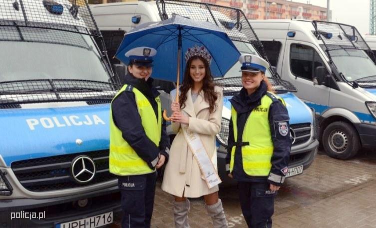 Miss Polski kontrolowała kierowców /