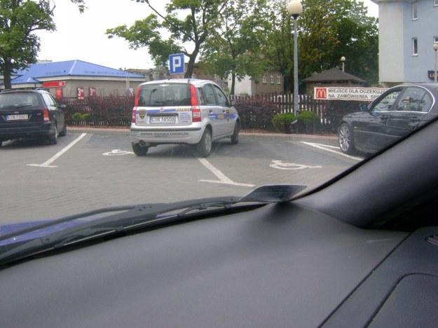 Mistrz parkowania w pandzie