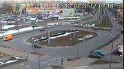 Mitsubishi dachowało na skrzyżowaniu w Bydgoszczy