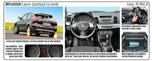 "Mitsubishi lancer /tygodnik ""Motor"""