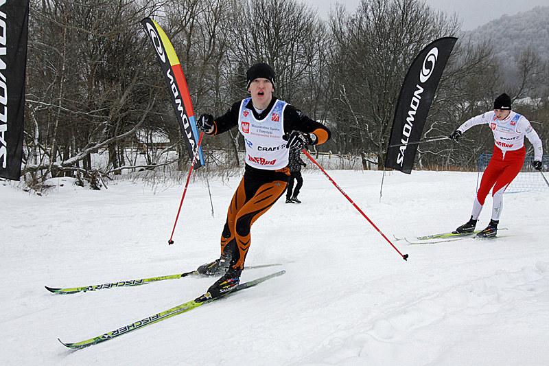 Młodzi biegacze na trasie w Ustrzykach Dolnych. /Informacja prasowa