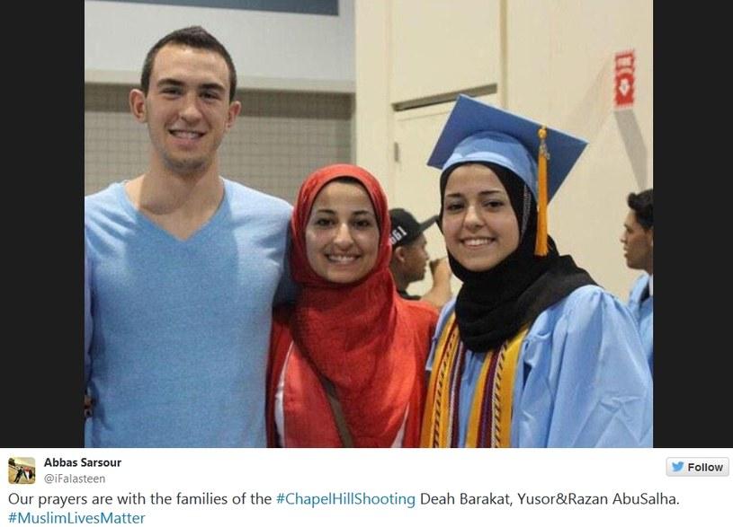 Młodzi muzułmanie - ofiary strzelaniny /Twitter