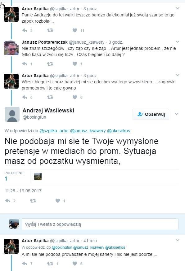Mocna wymiana zdań między Arturem Szpilką a Andrzejem Wasilewskim. /