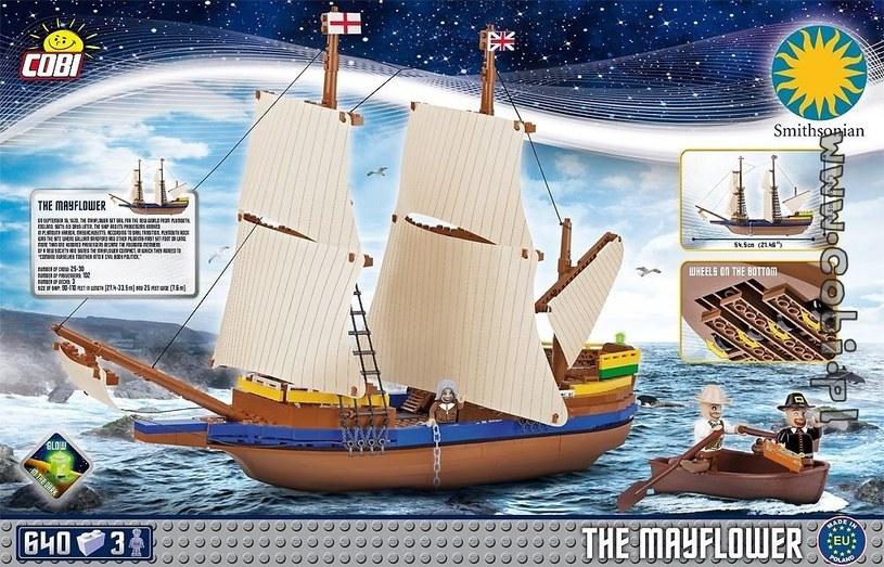 Model statku Mayflower z klocków Cobi /materiały prasowe