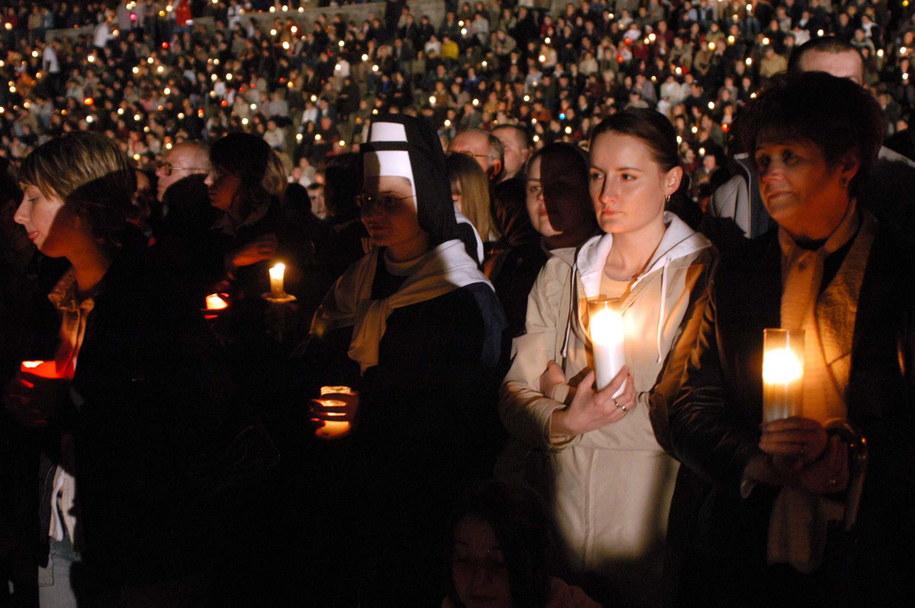 Modlitwa za Jana Pawła II w Lublinie /Mirosław Trembecki  /PAP