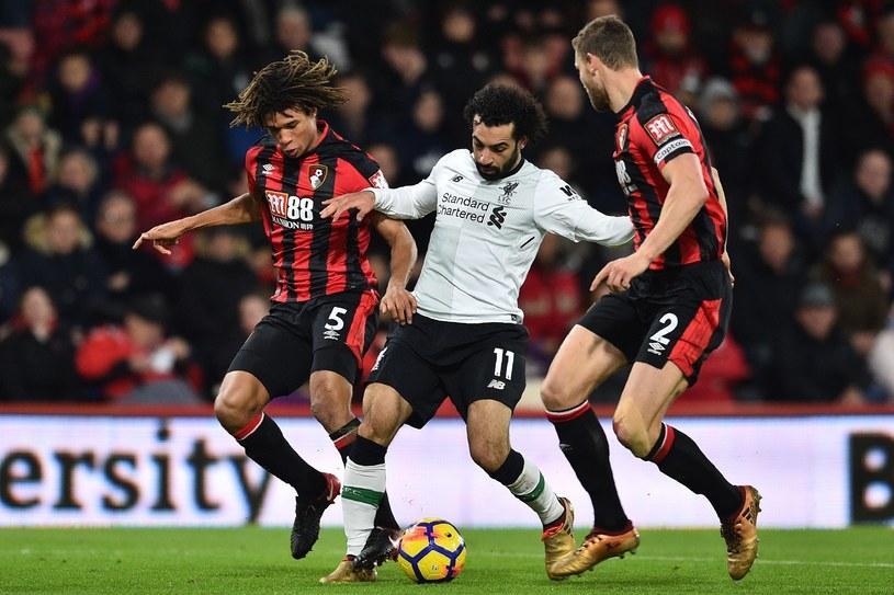 Mohamed Salah w pojedynku z zawodnikami Bournemouth /East News