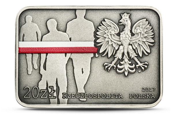 """Moneta """"35. rocznica zrywu antykomunistycznego w Lubinie"""" /NBP /INTERIA.PL"""