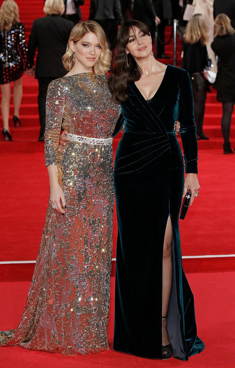 """Monica Bellucci i Lea Seydoux na światowej premierze filmu """"Spectre"""" w Londynie /John Phillips    /Getty Images"""