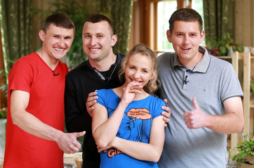 Monika i kandydaci na jej męża - Dawid, Tomek i Robert /TVP