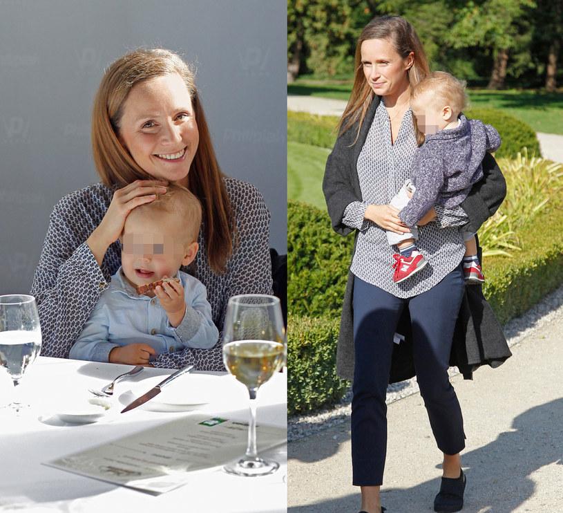 Monika Mrozowska z synem Józefem /Podlewski /MWMedia