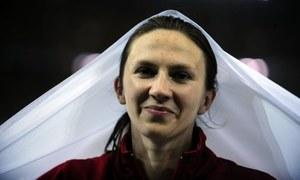 Monika Pyrek musiała sprostować błąd spikera. /AFP