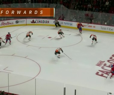 Montreal Canadiens - Philadelphia Flyers 3-1. Wideo