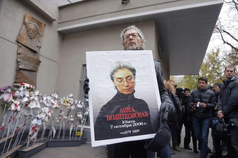 Moskwianie uczcili pamięć Politkowskiej /PAP/EPA