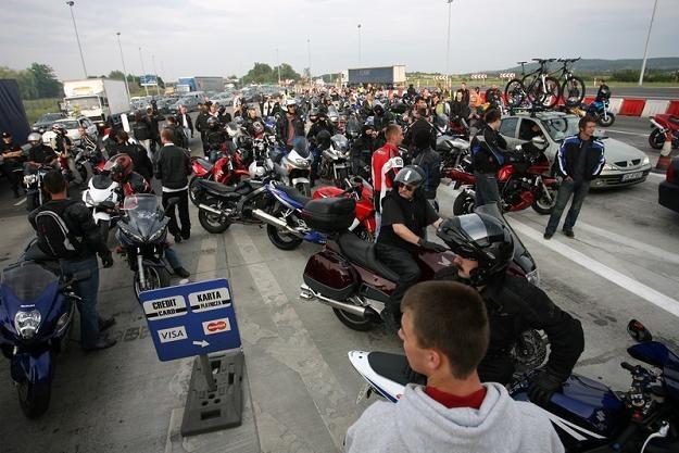 Motocykliści organizowali protesty na A4. Bez skutku / Fot: Paweł Piotrowski /Reporter