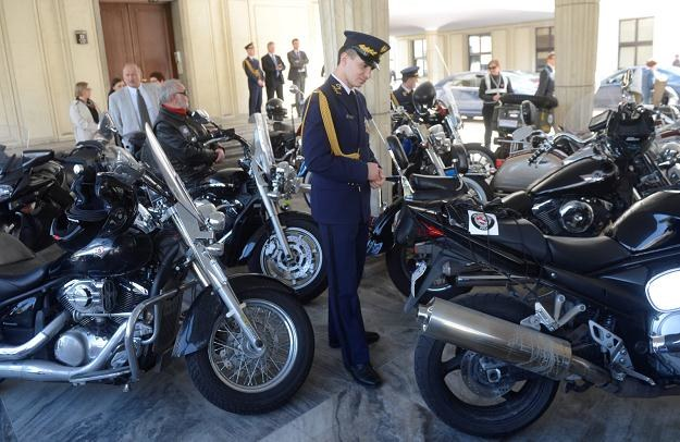 Motocykliście w sejmie /PAP