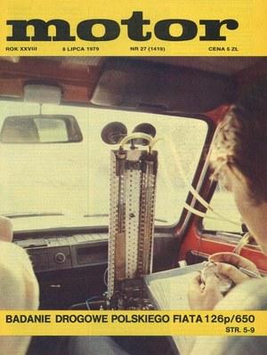 """""""Motor"""" nr 27 z 8 lipca 1979 r. /Motor"""