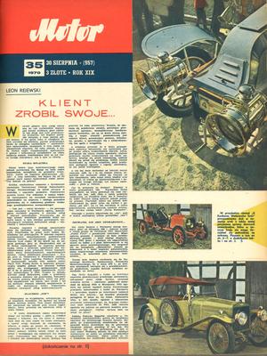 """""""Motor"""" nr 35 z 30 sierpnia 1970 r. /Motor"""