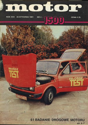 """""""Motor"""" nr 4 z 25 stycznia 1981 r. /Motor"""