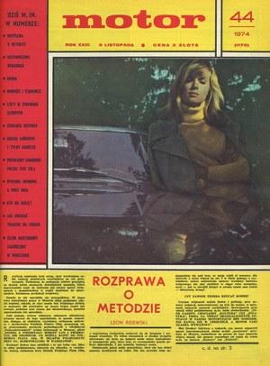 """""""Motor"""" nr 44 z 3 listopada 1974 r. /Motor"""