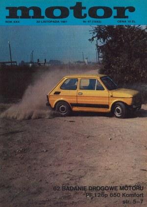 """""""Motor"""" nr 47 z 22 listopada 1981 r. /Motor"""