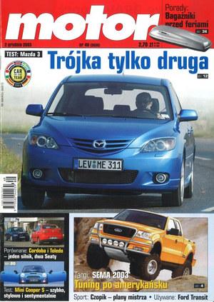 """""""Motor"""" nr 49 z 2 grudnia 2003 r. /Motor"""