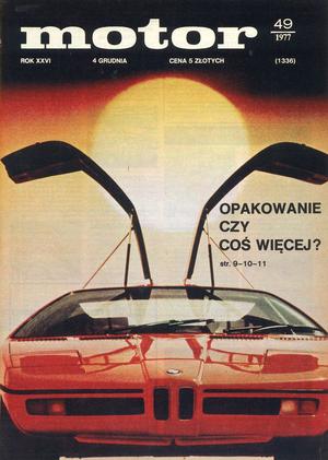 """""""Motor"""" nr 49 z 4 grudnia 1977 r. /Motor"""