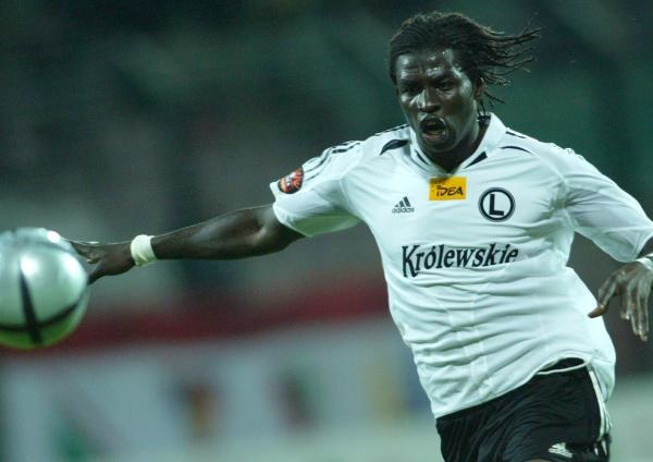 Moussa Ouattara zdobył zwycięskiego gola dla Legii Fot. Maciej Śmiarowski /Agencja Przegląd Sportowy