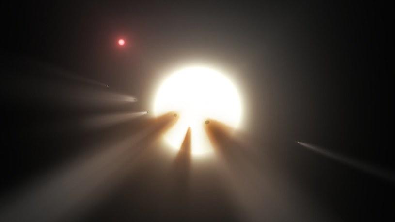 Możliwe wyjaśnienie tranzytów KIC 8462852 - komety krążące wokół gwiazdy /NASA