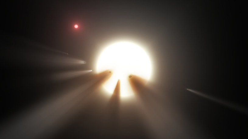 Możliwe wyjaśnienie tranzytów KIC 8462852 - komety krążące wokół gwiazdy /materiały prasowe