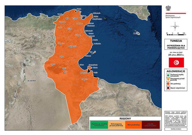 MSZ stanowczo odradza wyjazdy do Tunezji / Fot: msz.gov.pl /