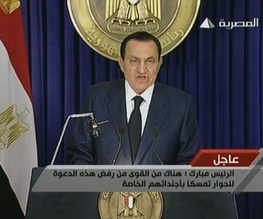 Mubarak: Zostanę aż do wyborów. To mój kraj