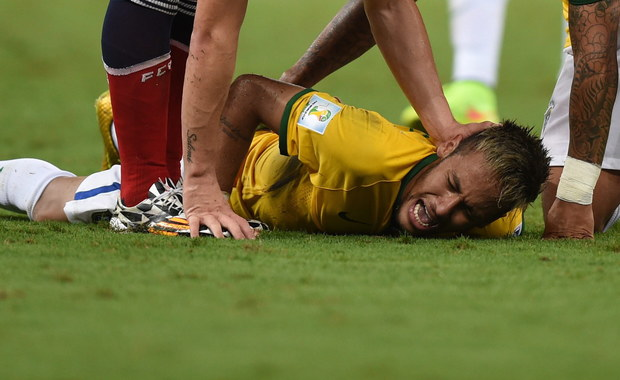 Mundial 2014: Neymar ma pęknięty trzeci kręg lędźwiowy