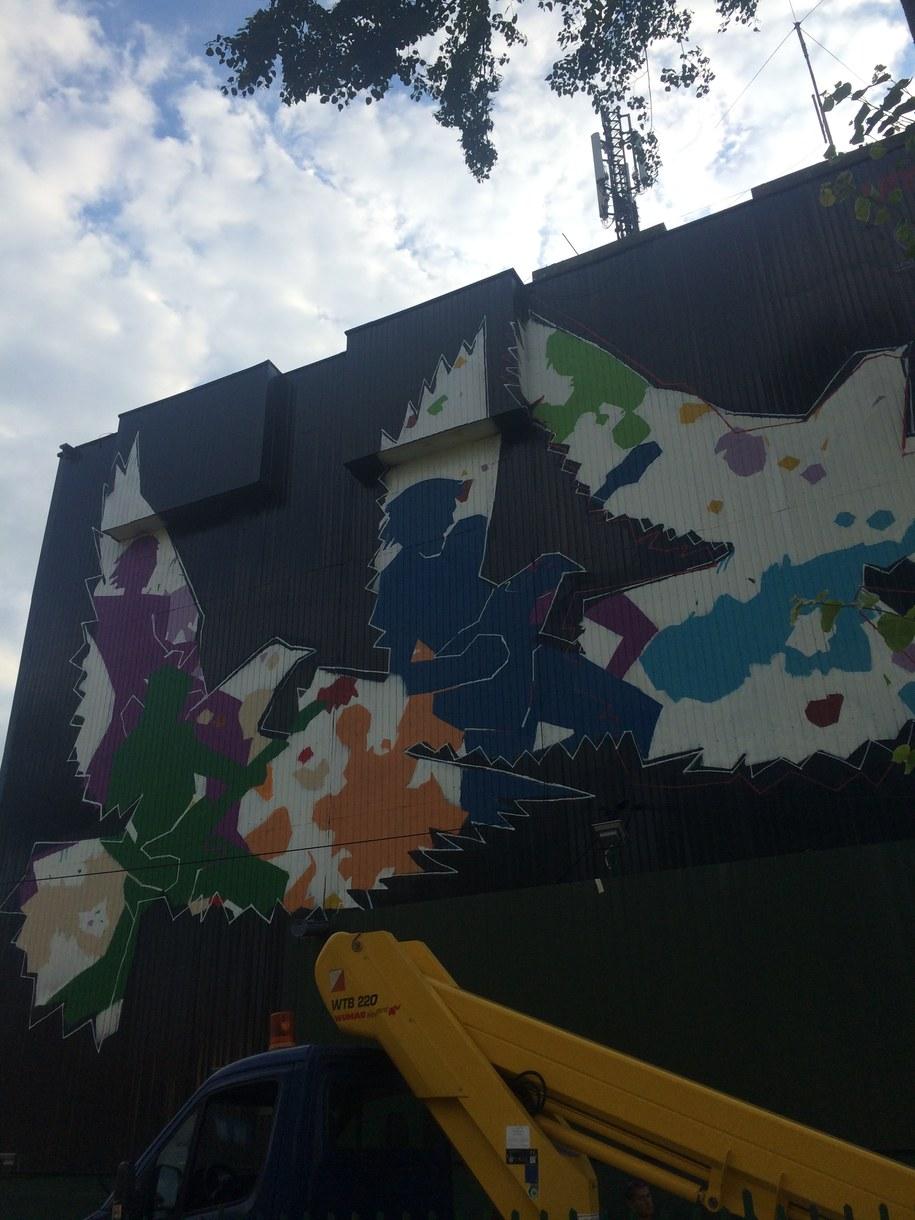 Mural Andrzeja Pągowskiego /Marcin Buczek /RMF FM