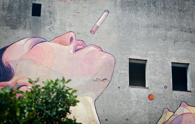 Mural autorstwa brazylijskich bliźniakow Os Gemeos i hiszpańskiego artysty Aryza /Michał Tuliński /Agencja FORUM