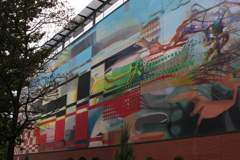 Mural na ścianie Galerii Łódzkiej, ul. Orla (autor: PROEMBRION) /Ewelina Karpińska-Morek /INTERIA.PL