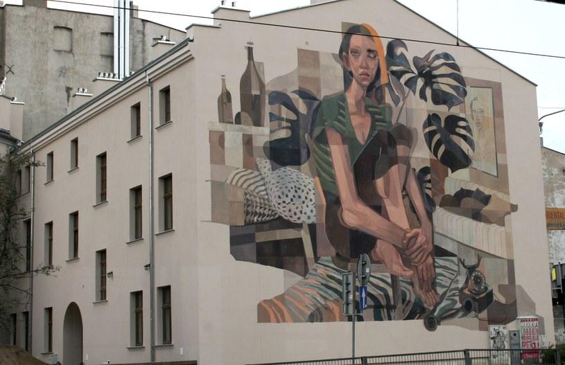 Mural przy przy ul. Więckowskiego 9 (autor: MORIK) /Ewelina Karpińska-Morek /INTERIA.PL
