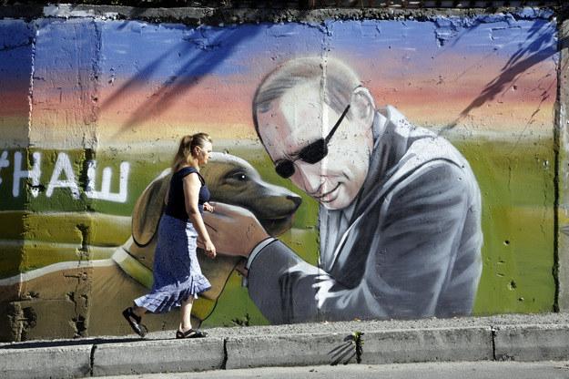 Mural w Jałcie /AFP
