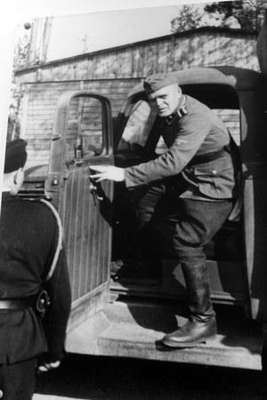 Muzeum przy obozie zagłady Treblinka - na zdjęciu Fritz Schmidt, jeden z członków załogi obozu /Sławomir Olzacki /Agencja FORUM