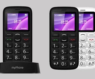 myPhone Simply 2 - klasyczny telefon ze stacją ładującą dostępny w Biedronce