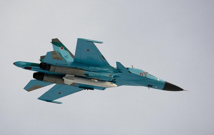 Myśliwce bombardujące Su-34 /AFP