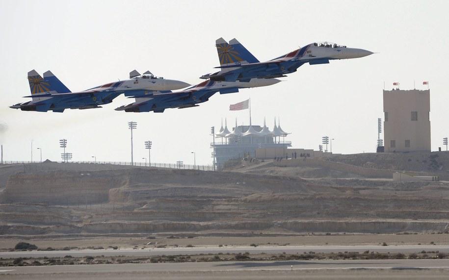 Myśliwce Su-27 /MAZEN MAHDI /PAP/EPA