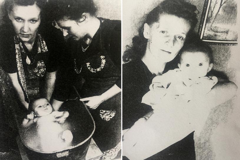 Na fotografii po lewej mała Zyta z mamą, na zdjęciu po prawej - prawdopodobnie brat Andrzej. Zyta Suś nie wie, kim jest kobieta na tym zdjęciu. /Archiwum prywatne Zyty Suś /