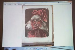 Na konferencji pokazano zdjęcia pięciu obrazów