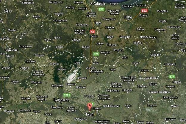 Na mapach Googla A1 kończy się pod Grudziądzem /