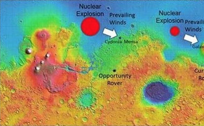 Na Marsie jest kilka rejonów o podwyższonym promieniowaniu gamma /materiały prasowe