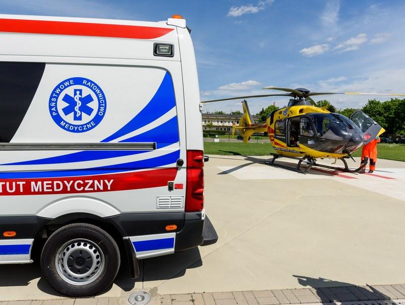 Na miejsce przybył helikopter medyczny, zdj. ilustracyjne /Piotr Blawicki /East News